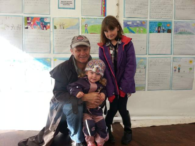 A family proud of their daughter's exhibition
